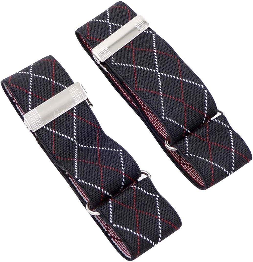 Men's 2 P CS Polka Dots Elastic Shirt Garters Sleeve Holders Armbands 1.4''Width