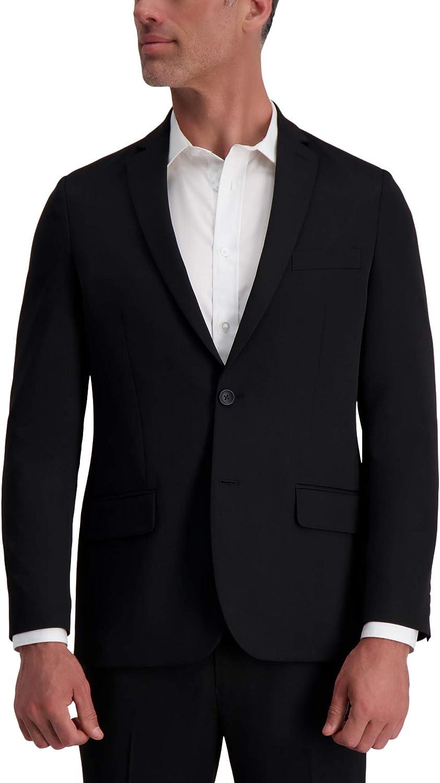 Louis Raphael Men's 2B SV Slim Fit Jacket, Black, 46R