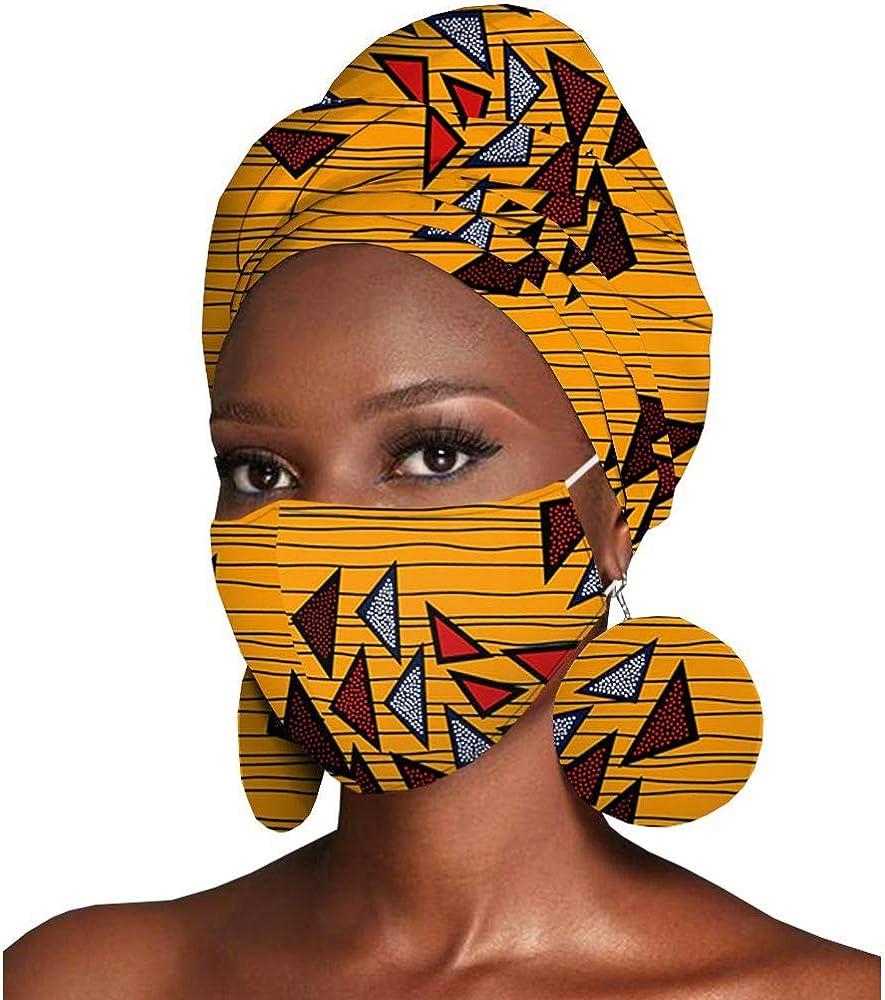 African Headwraps Earrings Print Cotton Minneapolis Mall Bonnet Headband W Product Ankara