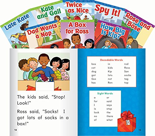 Teacher Created Materials - Targeted Phonics Collection: Set 2 - 8 Book Set - Grades K-2 - Guided Reading Level A - G