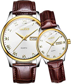 Watches for Men Waterproof Watches for Women Leather Strap Same Style Couple Watches for Men and
