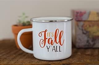 It's Fall Y'all Coffee Mug Gift Tea Cup White 11 oz