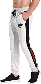 CakCton Pantaloni da jogging da uomo, in cotone, per fitness, slim fit, per il tempo libero