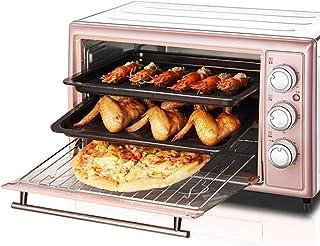 Horno doméstico Mini horno tostador, 30L Apagado inteligente Horno eléctrico multifuncional para el hogar, Diseño de calefacción de 360 grados, La comida se calienta uniformemente, Compacto y fácil