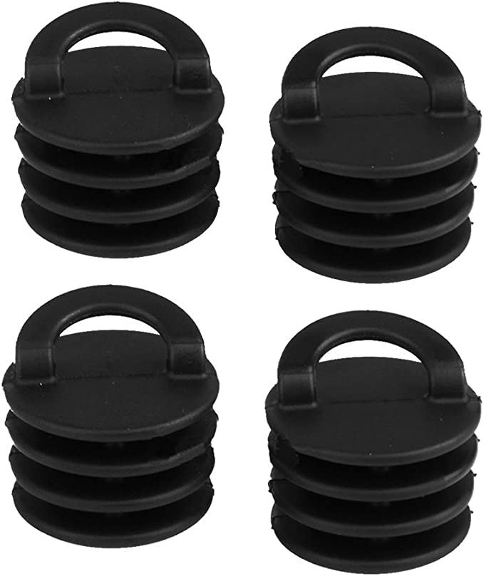 Sanmum Kayak Scupper Plugs Kit Kayak Accessory Stopper Plug Fits Holes 3//4 to 1.5 for Canoe Drain Boats Pack of 4