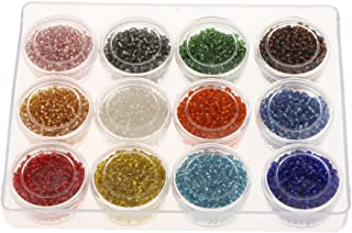 Homyl 4200 peças por atacado 12 cores vidro cristal solto miçangas espaçador faça você mesmo artesanato 2 mm
