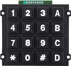Sourcingmap Lot de 5 claviers /à membrane 4 x 4 16 touches AVR 12 V pour Arduino Robort et Raspberry Pi