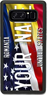 BRGiftShop Customize Your Own Mixed USA and Romania Flag Rubber Phone Case for Samsung Galaxy Note 8
