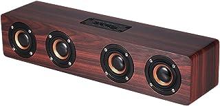 Docooler Wood Grain Bluetooth Speaker Compatible with Multiple Device, Brown - V3090