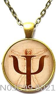 Fashion Necklace Fashion Pendant,PSI Symbol Necklace, Psychology Pendant, Jewelry,Gift for Psychologist,Photo, Anatomy Picture Pendant Choker Necklace,Q0252