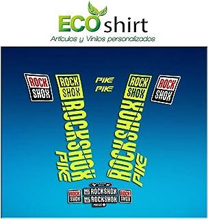 Ecoshirt SJ-V1WO-5HPW Stickers Fork Rock Shox Pike 2018 Am187 Aufkleber Decals Autocollants Adesivi Forcela, Fluorescent Yellow 029