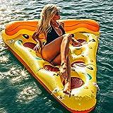 Zerone Colchoneta Hinchable Piscina Flotador, Piscinas Inflable Pizza para Piscina y Playa , Hinchables Juguete Piscina Inflable Flotador para Adultos y Niños,168cm