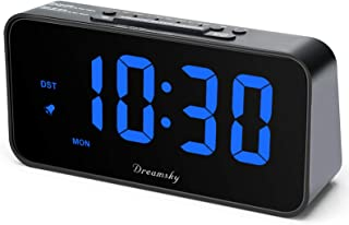 DreamSky 7.3 Inches Large Alarm Clock Radio, FM Clock Radio, 2 Inches Digit Display with Dimmer, USB Charging Port, Adjust...