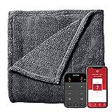 Sunbeam LoftTec Wi-Fi Connected Heated Blanket, Electric Blanket, 10 Heat Settings, Queen Size