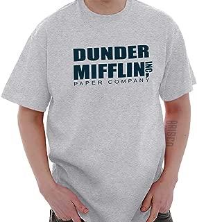 Brisco Brands Dunder Paper Company Mifflin Office TV Show T Shirt Tee