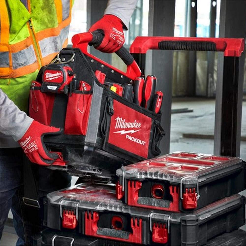 Milwaukee 4932464084 PACKOUT 4932464084-Bolsa para Herramientas (25 cm), Rojo: Amazon.es: Bricolaje y herramientas