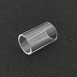 Qingtian-ceg 2 Piezas de reemplazo Pyrex Glass Tube Fit Joyetech Ego AIO Eco Kit para Capacidad de 1,2 ml Atomizador de Tanque,Sin Tabaco ni nicotina (Color : Clear)