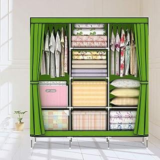 CXVBVNGHDF Armoire en Toile Armoire en Tissu de Garde-Robe Portable avec étagères suspendues pour Chambre à Coucher, Salon...