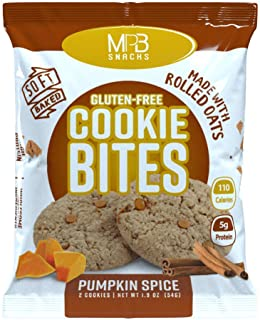 MPB Cookie Bites, Pumpkin Spice, Gluten Free, Low Sugar, (Pack of 10) 20 Count - Limited Edition