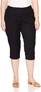 Riders by Lee Indigo Women's Plus Size Comfort Collection L-Pocket Twill Capri