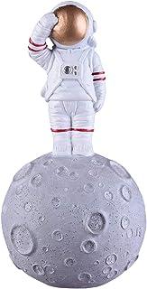 NBHUZEHUA Resin Astronaut Figurine Outer Space Toys Kids Boys Party Room Decor White