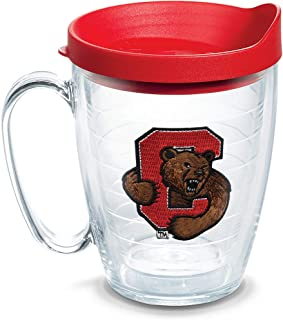 Tervis 1060805 Cornell Big Red Logo Tumbler with Emblem and Red Lid 16oz Mug, Clear