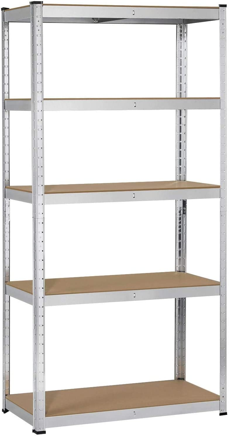 Yaheetech Heavy Duty Steel Garage Shelving Utility Storage Rack Adjustable  Boltless 20 Shelf Shelving Unit Space Saver Display Stand, 20 inches Height