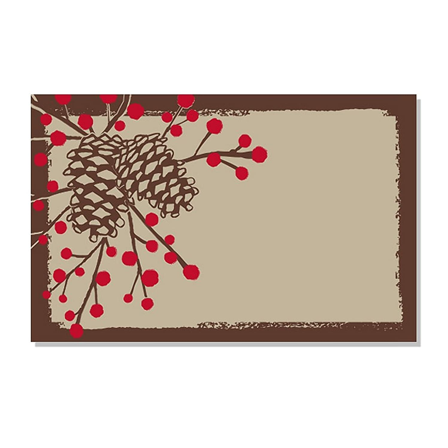 Woodland Pinecone Enclosure Cards / Gift Tags - 3 1/2 x 2 1/4 (50)