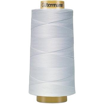 Gutermann 3000C-5709 Natural Cotton Thread Solids, 3281-Yard, White