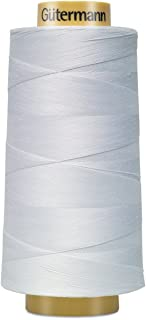 Gutermann 3000C-5709 Natural Cotton Thread Solids, 3281-Yard, White