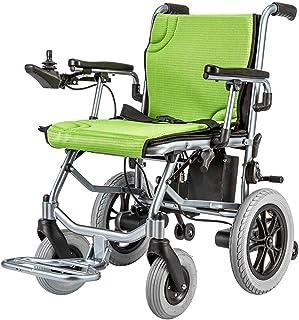 AOLI Carry ligera Lntelligent plegable para adultos sillas de ruedas eléctricas, sillas de ruedas eléctricas para personas de movilidad reducida con 360 ° Joystick, función dual de alimentación de ba