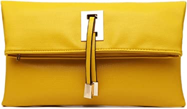 Best yellow leather clutch Reviews