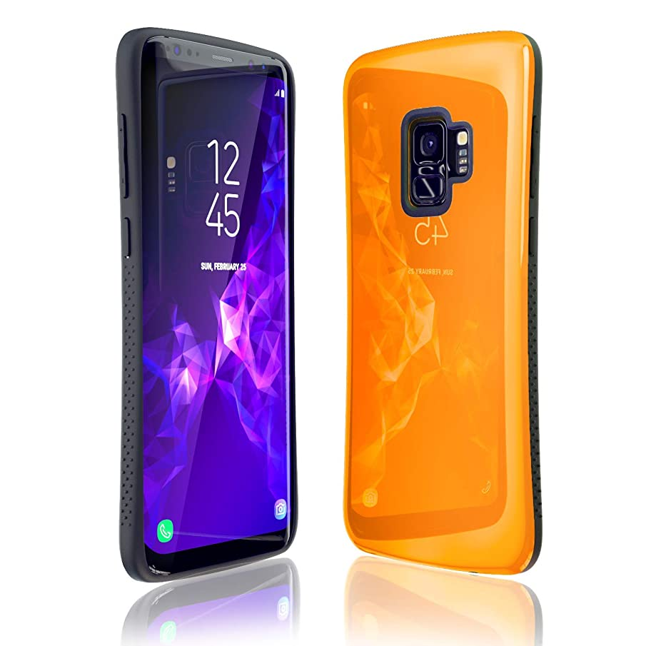 Samsung Galaxy S9 Case   Premium Luxury Design   Military Grade 15ft. Drop Tested   Wireless Charging   Compatible with Samsung Galaxy S9 - Orange
