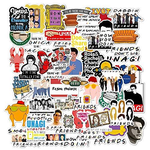 JINER Friend TV Cartoon Sticker Car Bike Travel Luggage Guitar Laptop Waterproof DIY Funny Sticker Classic 50PCS