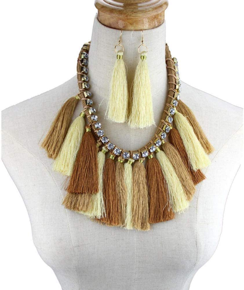Urns Ashes Funeral Jewellery Sets Handmade Rhinestone Tassel Pendant Necklace Earrings Women Fashion Party Wedding Bridal Jewelry Set Bohemian,Colour:B Pet Memorial Dog cat Urn (Color : C)