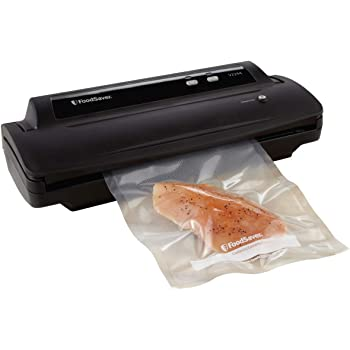 Foodsaver FSFSSL2244-000 V2244 Machine for Food Preservation with Bags and Rolls Starter Kit | Number 1 Vacuum Sealer System | Compact and Easy Clean | UL Safe, Single, Black