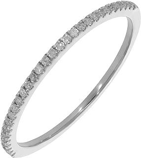 0.15Ct Natural White Diamond Half Eternity Wedding band