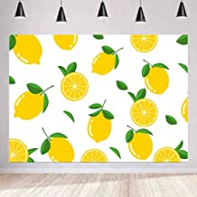 MEETSIOY Fruit World Backdrop Lemon Photography Background Themed Party Photo Booth YouTube Backdrop 7x5ft LXMT898