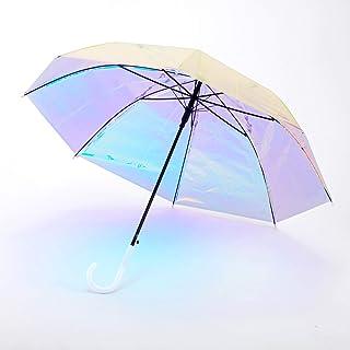 オーロラ傘 ホログラム 虹色 ホログラフィック インスタ 映え お洒落 個性的 派手 可愛い 盗難防止