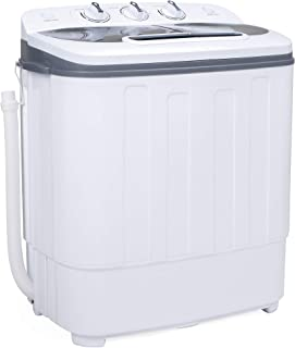 Best Choice Products Portable Compact Twin Tub Laundry Machine & Spin Cycle w/Hose,..