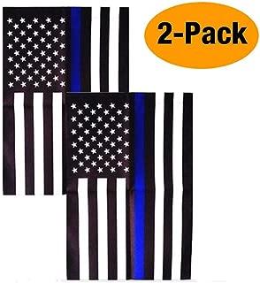 Consio Thin Blue Line American 12 x 18 Inch Garden Flag -2 Pack
