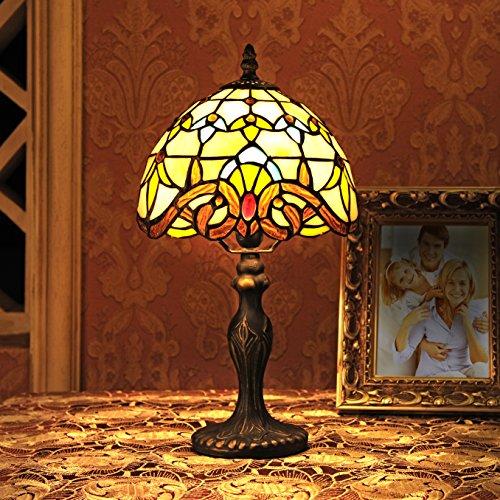 8-Inch Barock europäische Tiffany Tischlampe Schlafzimmerlampe Nachttischlampe