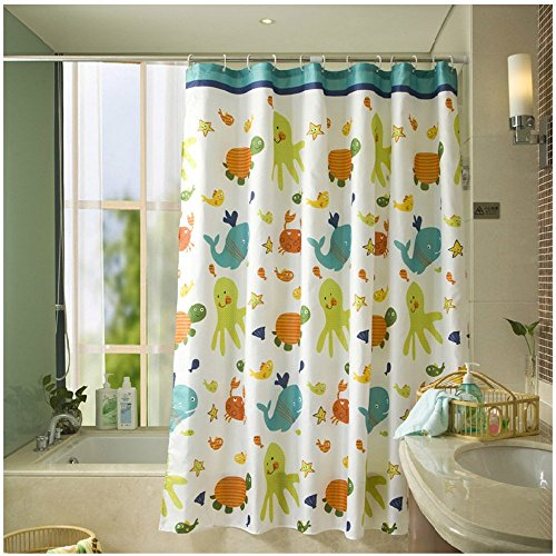 HOMEIDEAS Heavy Duty 3D Cube Shower Curtain,Waterproof,Shower Curtain for Bath (72 x 72 Inch)