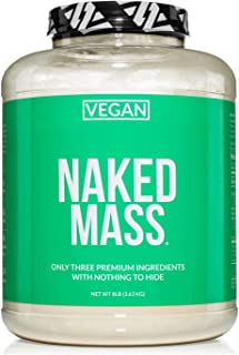Naked Vegan Mass – Natural Vegan Weight Gainer Protein Powder – 8lb Bulk, GMO Free, Gluten Free, Soy Free & Dairy Free. No...