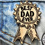 Best Dad Ever Award Wood Pin | Gifts on a Budget Father's Day Gift for Dad Hatpin