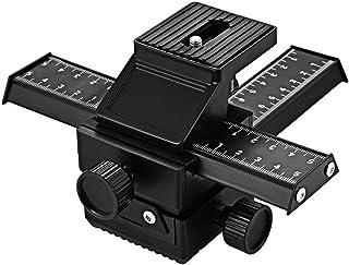 Elerose Control Deslizante de 2 v/ías para Tomas Macro Regulador Deslizante de v/ías con Tornillo DE 1//4 Pulgadas Soporte de liberaci/ón r/ápida para c/ámaras Canon Nikon y Sony DSLR