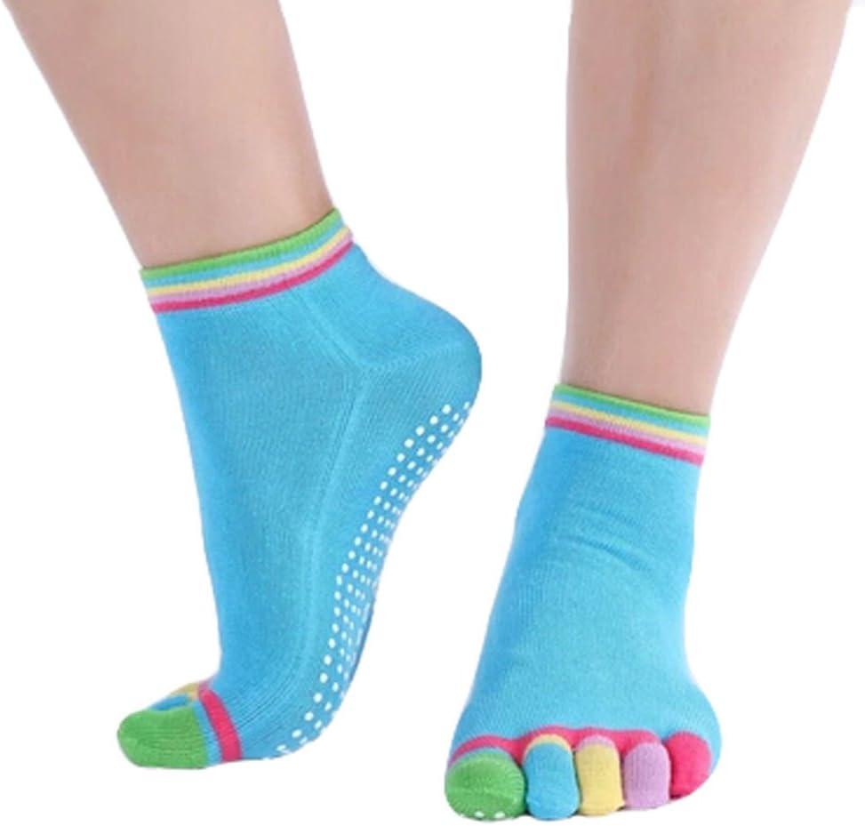 Phoenix Max 53% OFF Wonder Women's Non Slip Colorful Cot Full Toe Yoga Socks It is very popular