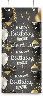 XIXIKO - Pochettes de rangement à suspendre au mur avec 3 poches - Pour anniversaire, confettis, ballons - Pour vêtements,...