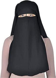 XL Long Saudi Niqab Nikab 3 Layers burqa Hijab Face cover Vei lBurka Naqaab Islam Islamic Jilbab