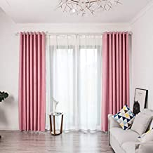 Excursion Home Luxury Blackout Curtains Panels for Bedroom Living Room, Window Treatment Thermal Insulated Darkening Solid Grommet Blackout Drape Valance, W59 x H98 Inch,1 Panel